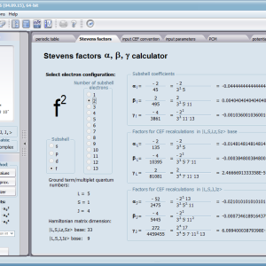 Stevens Factor Calculator  ATOMIC MATTERS